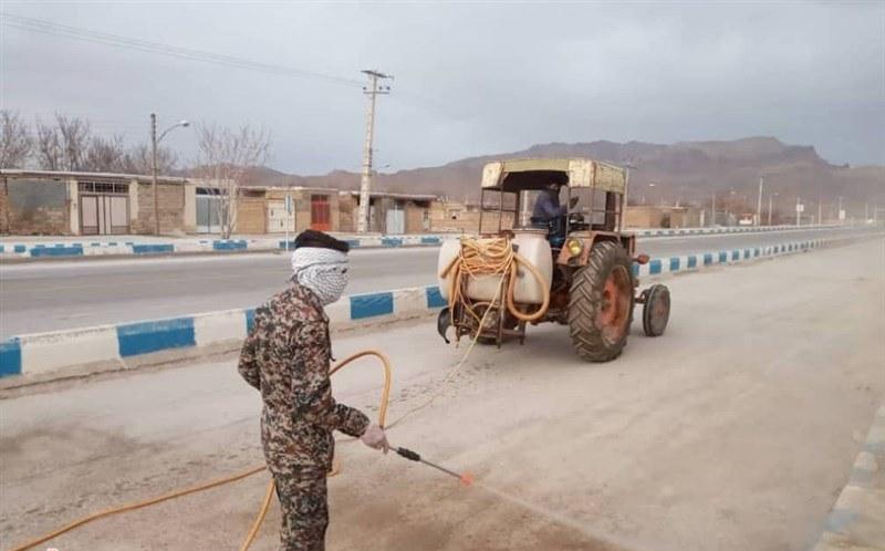 شهرها و روستاهای اردستان توسط سپاه ضدعفونی میشود