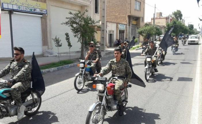 رژه موتوری بسیجیان در اردستان برگزار شد /تصاویر