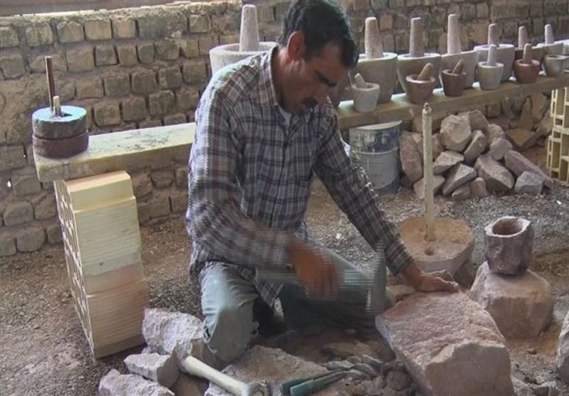 گرد و غبار فراموشی بر هنر ۲۵۰۰ ساله اردستانیها / هنر اصیل سنگتراشی در ورطه نابودی